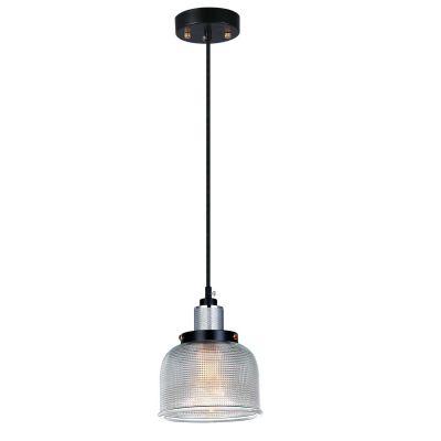 Pendente Vertical Grid Metal Vidro Transparente 11,5x14,5cm Bella Iluminação 1 E27 Bivolt OP045C Entradas e Mesas