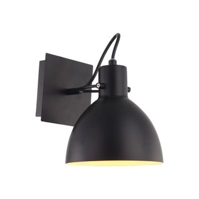 Arandela Haus Sino Direcionável Metal Preto 19x16cm Bella Iluminação 1 E27 40W Bivolt OP052B Escritórios e Mesas