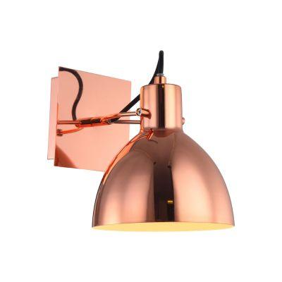 Arandela Haus Sino Direcionável Metal Cobre 19x16cm Bella Iluminação 1 E27 40W Bivolt OP052CO Escritórios e Mesas