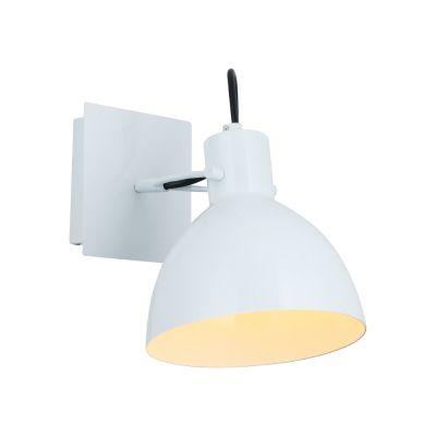Arandela Haus Sino Direcionável Metal Branco 19x16cm Bella Iluminação 1 E27 40W Bivolt OP052W Escritórios e Mesas