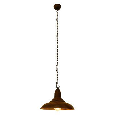Pendente Udaipur Conico Metal Envelhecido 23x28cm Bella Iluminação 1 E27 Bivolt PEI0031MA Cozinhas e Balcões