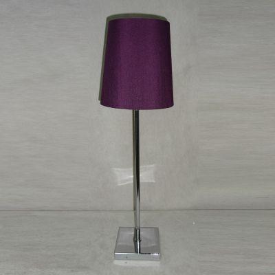 Abajur Roxo Vertical Tecido Metal Cromado 46x14cm Bella Iluminação 1 E27 Bivolt SL005D Quartos e Criados-Mudos