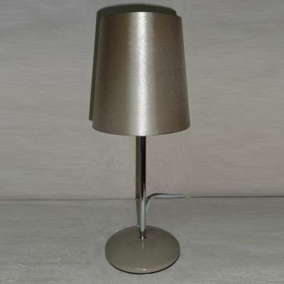 Abajur Dourado Tubular Tecido Metal Cromado 34x14cm Bella Iluminação 1 E27 Bivolt SL006E Quartos e Cabeceiras