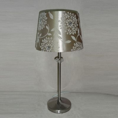 Abajur Red Escovado Alumínio Tecido Dourado 47x23cm Bella Iluminação 1 E27 Bivolt SL009 Cabeceiras e Criados-Mudos