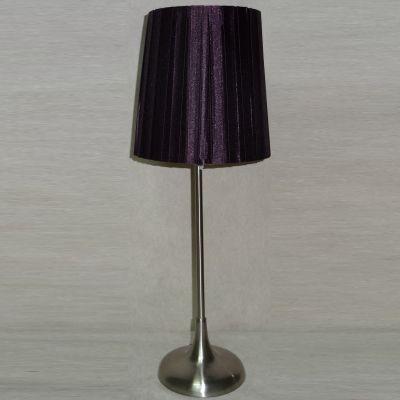 Abajur Roxo Vertical Metal Escovado Tecido 45x17cm Bella Iluminação 1 E27 Bivolt SL012B Cabeceiras e Criados-Mudos