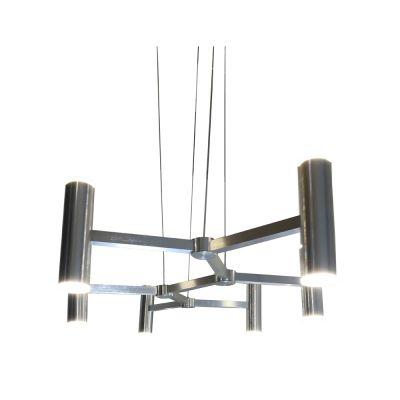 Pendente LED Helix Moderno Alumínio Cromado 26x103cm Bella Iluminação 1 LED 6W Bivolt ST3109 Entradas e Salas