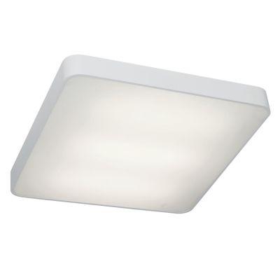 Plafon Quad Sobrepor Alumínio Acrílico Branco 10x65cm Bella Iluminação 6 E27 Bivolt TS1702G Salas e Entradas