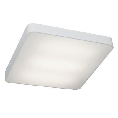 Plafon Quad Sobrepor Alumínio Acrílico Branco 10x48cm Bella Iluminação 4 E27 Bivolt TS1702M Salas e Entradas