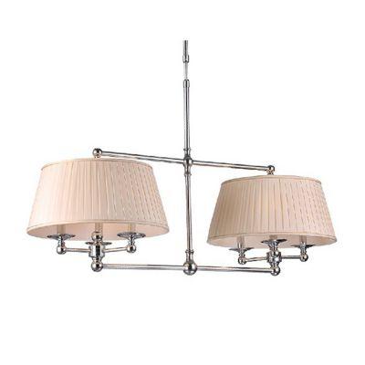 Pendente Madison Duplo Metal Cromado Tecido 125x110cm Bella Iluminação 6 E14 Bivolt UD017 Entradas e Hall