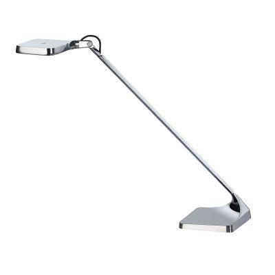 Abajur LED Vertical Alumínio Cromado Decorativo 29x32,8cm Bella Iluminação 1 LED 4W Bivolt VD010C Mesas e Balcões