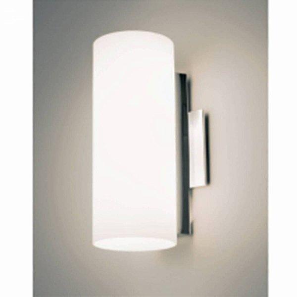 Arandela Bath Tubular Aço Cromado Vidro Branco 30x12cm Bella Iluminação 2 G9 Halopin Bivolt VT2026M Salas e Quartos