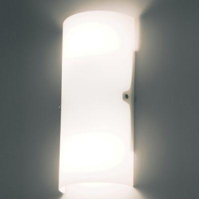 Arandela Bath Tubular Aço Cromado Vidro Branco 23x15cm Bella Iluminação 1 E27 40W Bivolt VT2028P Salas e Quartos
