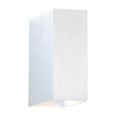 Arandela Sobrepor Brick Ret Alumínio Escovado 15x5cm Bella Iluminação 1 G9 Halopin Bivolt W1904S Salas e Quartos