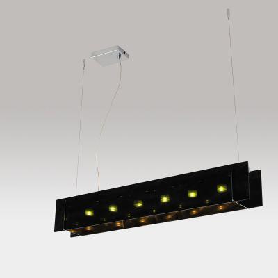 Pendente LED Preto Acrílico Aço Cromado 13x90cm Bella Iluminação 6 LED 1W Bivolt WN003B Cozinhas e Balcões