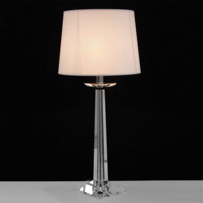 Abajur Classic Vidro Metal Cromado Cupula Ø63cm Bella Iluminação 1 E27 Bivolt XL1520 Cabeceiras e Criados Mudos