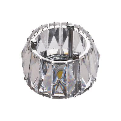 Spot Cristal Embutir Redondo Metal Cromado 7,8x9,2cm Bella Iluminação 1 GU10 Dicróica Bivolt YD1020 Salas e Entradas