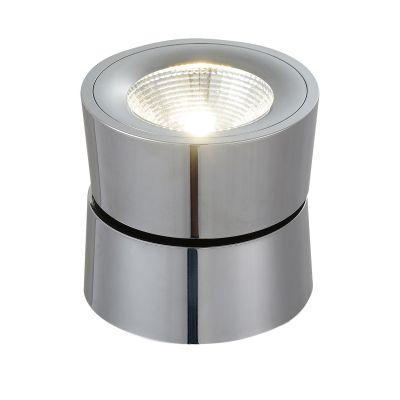 Spot Red Bloc Sobrepor LED Alumínio Cromado 10,3x10,8cm Bella Iluminação 1 LED 10W Bivolt YD1300C Salas e Cozinhas