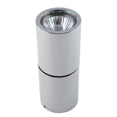 Spot Red Tubular Sobrepor Alumínio Cromado 15,8x6,3cm Bella Iluminação 1 GU10 Dicróica Bivolt YD1800C Salas e Hall