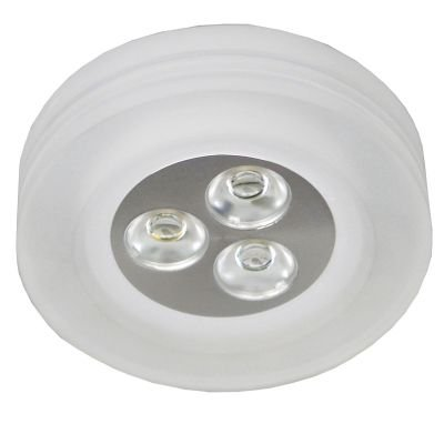 Spot LED Glow Red Embutido Alumínio Acrílico 4,3x8,8cm Bella Iluminação 3 LED 1W Bivolt YD227RF Quartos e Salas