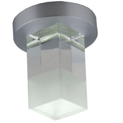 Spot Fine Quad LED Embutido Cristal Alumínio 6,6x4cm Bella Iluminação 1 LED 1W Bivolt YD262QF Salas e Cozinhas