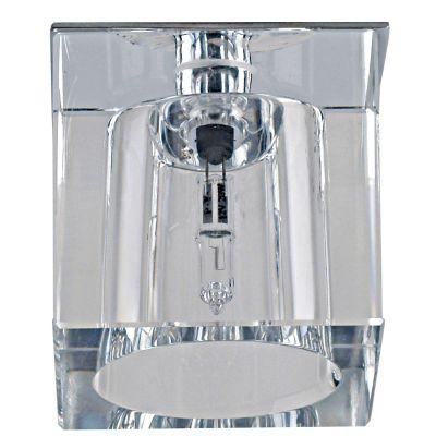 Spot Shine Quad Embutido Cristal Aço Cromado Ø5,5cm Bella Iluminação 1 G4 Bi-pino Bivolt YD604 Cozinhas e Salas