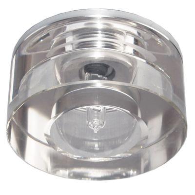 Spot Cristal Redondo Embutido Aço Cromado 5,5x7cm Bella Iluminação 1 G4 Bi-pino Bivolt YD765 Corredores e Quartos
