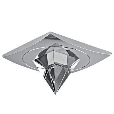 Spot Shine Quad Cristal Alumínio Cromado Ø8,4cm Bella Iluminação 1 GU10 Dicróica Bivolt YD795 Corredores e Quartos
