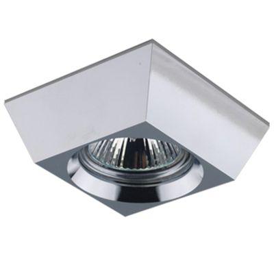 Spot Quad Embutido Decorativo Alumínio Cromado Ø8,5cm Bella Iluminação 1 GU10 Dicróica Bivolt YD922 Salas e Hall