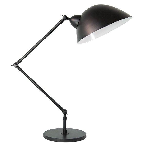 Luminária de Mesa Baboo Haste Flexível Metal 60x21cm Golden Art 1x Lâmpada E27 Bivolt M1060-30 Mesas e Escritórios