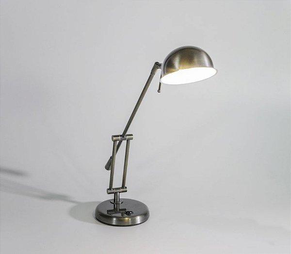 Luminária de Mesa Danny Articulada Metal 40x14cm Golden Art 1x G9 Halopin Bivolt M685 Balcões e Cabeceiras