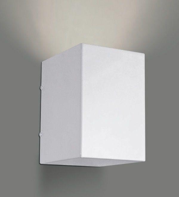 Arandela Caixa Alumínio Decorativo Branco 10x14cm Golden Art 1x Lâmpada E27 Bivolt P741 Quartos e Banheiros
