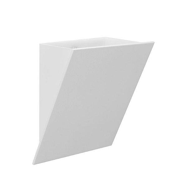Arandela Teck Decorativa Alumínio Branco 25x33cm Golden Art 1x Lâmpada E27 Bivolt P747 Banheiros e Quartos