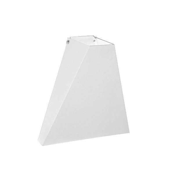 Arandela Pex Triangular Sobrepor Metal Branco 16x15cm Golden Art 1x G9 Halopin Bivolt P983 Entradas e Quartos
