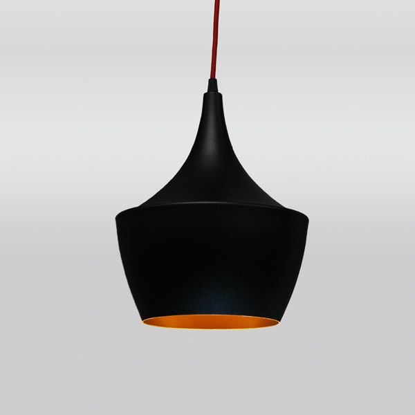 Pendente Papey Sino Vertical Alumínio Preto 32x25cm Golden Art 1x Lâmpada E27 Bivolt T9058-C Balcões e Cozinhas