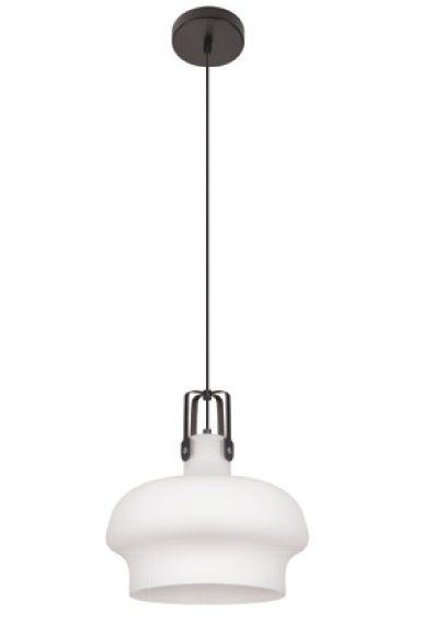 Pendente Inpepoli Vertical Cupula Vidro Branco 22x18cm Luciin 1x Lâmpada E27 Bivolt FR019/3 Salas e Cozinhas