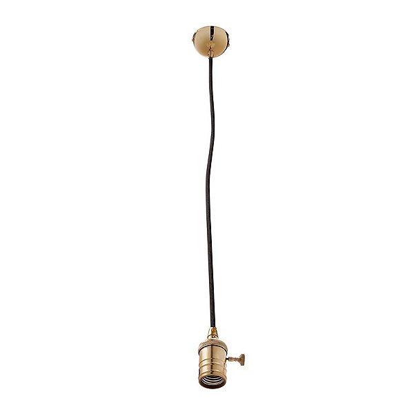 Pendente Inannata Vertical Tubular Metal Dourado 8x6cm Luciin 1x Lâmpada E27 Bivolt ZG171/2 Balcões e Mesas