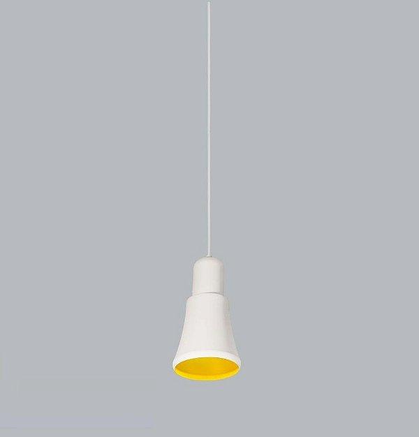 Pendente Beluga PQ Conico Alumínio Branco 25x13,5cm Usina Design 1x Lâmpada E27 Bivolt 16025-14 Mesas e Balcões