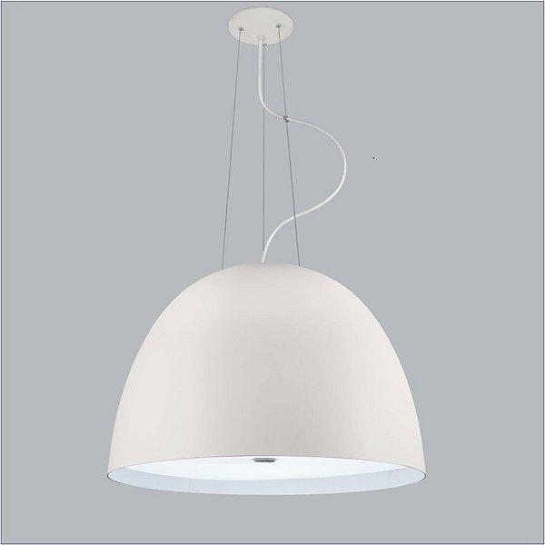 Pendente Shimeji Redondo Oval Alumínio Branco 56x38,5cm Usina Design 3x Lâmpadas E27 Bivolt 16036-60 Salas e Mesas