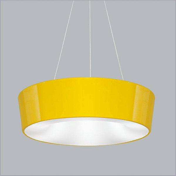 Pendente Vulcano Peq Redondo Alumínio Amarelo 15x35cm Usina Design 2x E27 Bivolt 16216-35 Mesas e Corredores