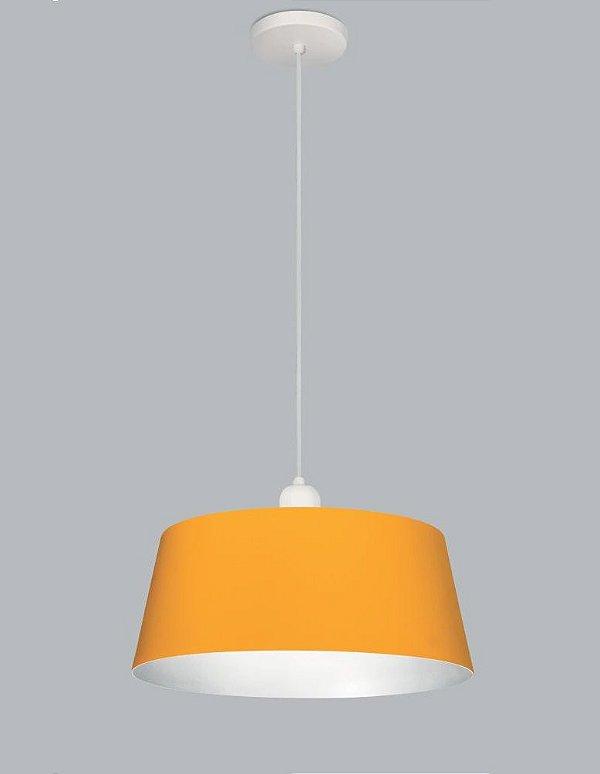 Pendente Cambar Med Redondo Vertical Metal Amarelo 20x35,5cm Usina Design 1x E27 Bivolt 16240-35 Balcões e Mesas