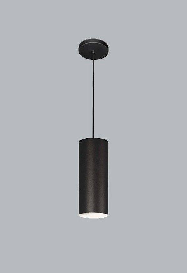 Pendente Ducto M Vertical Tubular Metal Preto 40x11cm Usina Design 1x E27 Bivolt 16256-40 Balcões e Cozinhas