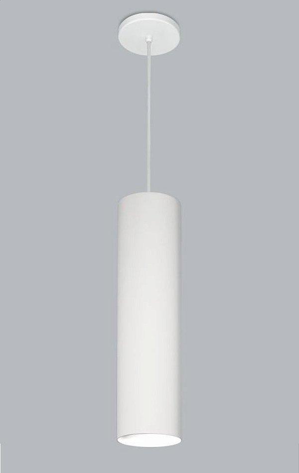 Pendente Ducto GG Vertical Tubular Metal Branco 60x11cm Usina Design 1x E27 Bivolt 16256-60 Balcões e Cozinhas