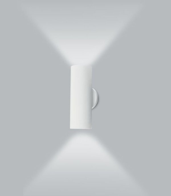 Arandela Ducto M Tubular Vertical Metal Branco 40x11cm Usina Design 2x Lâmpada E27 Bivolt 16257-40 Salas e Entradas