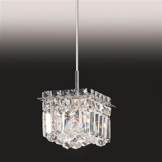 Pendente Cristal Lapidado Vertical Metal Cromado 65x12cm Old Artisan 1x G9 Halopin Bivolt PD-4746 Salas e Mesas
