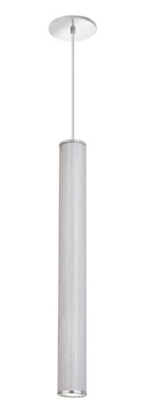 Pendente Tubo Redondo Vertical Alumínio Branco 60x69cm Old Artisan 1x GU10 Dicróica Bivolt PD-5142 Mesas e Salas