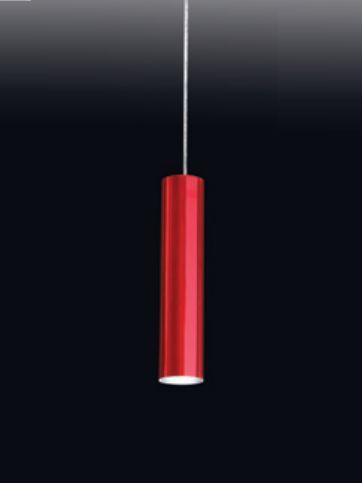 Pendente Tubo Redondo Vertical Alumínio Vermelho 30x7,6cm Old Artisan 1x PAR20 Bivolt PD-5003 Entradas e Cozinhas