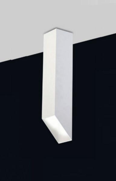 Plafon Fino Moderno Vertical Alumínio Branco 30x7,6cm Old Artisan 1x PAR20 Bivolt EMB-4982 Balcões e Entradas