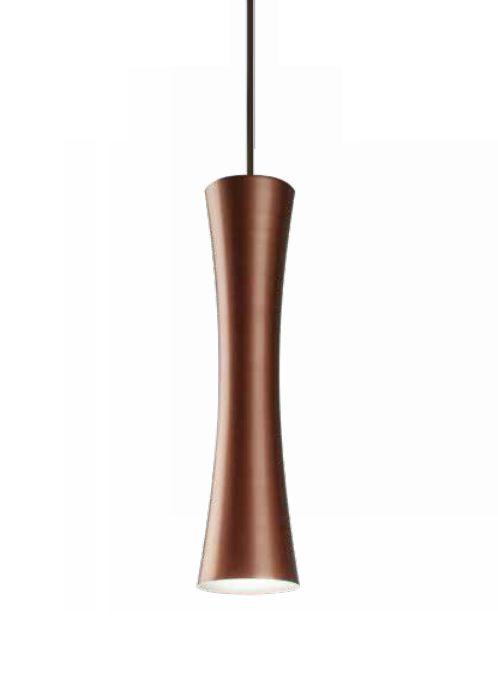 Pendente Sottile Tubo Curvo Vertical Alumínio Bronze 30x12cm Newline Lâmpada PAR16 50W ST20011CO Salas e Corredores