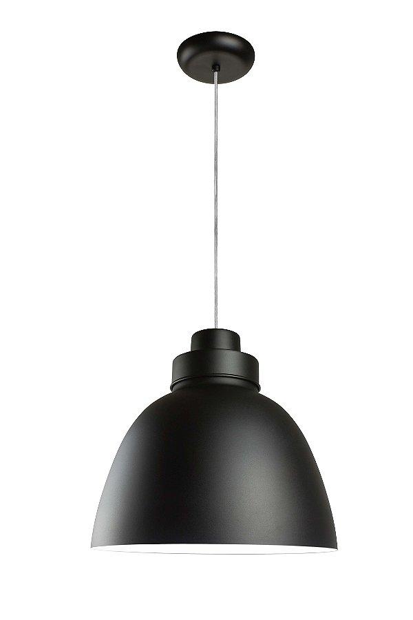Pendente New Industrial Conico Oval Alumínio Preto 39x40cm Newline Lâmpada E27 25W SNT366PTBR Salas e Cozinhas