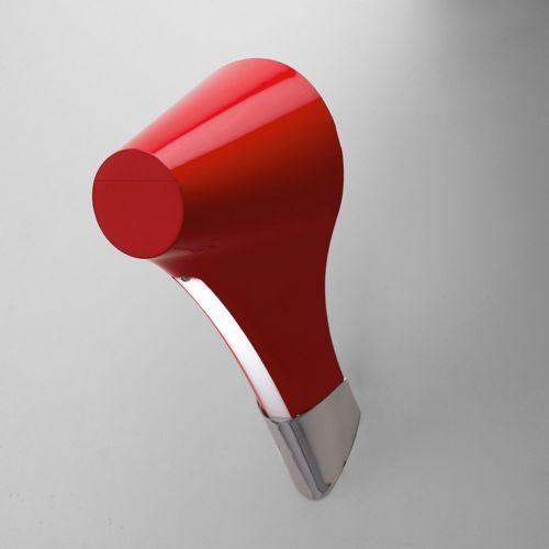 Arandela Ora Metal Vermelho Vertical Moderna 13,5x23,7cm Mantra 1x Lâmpada E27 13W Bivolt 1567 Salas e Corredores